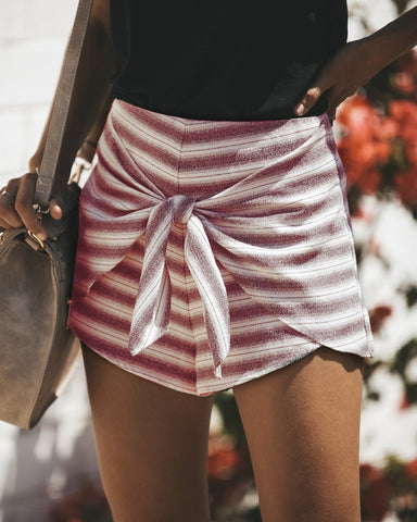 Sexy Women Fashion Striped Shorts Lace Up Summer Casual Party Short Pants Shorts | Edlpe