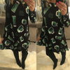 Image of Women Long Sleeve Halloween Print Midi Dress Party Evening Dress | Edlpe