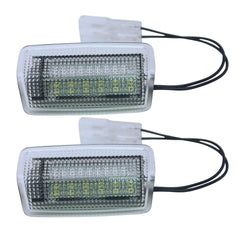 2PCS 22LEDs White+Red Car Door Light Welcome Lights Projector Lights Ground Lamp for LEXUS Toyot