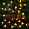 Image of 20/30 Led Solar Bee String Lights Outdoor Leds Strings Waterproof Garden Party Night Light Decor | Edlpe