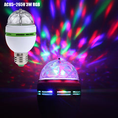 E27 Rgb Led Lamp 3W Colorful Magic Bulbs Ac 85-265V 110V 220V Stage Light Dj Disco Club Party Bulb | Edlpe