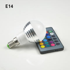 16 Colors LED RGB Bulb Lamp E14 E27 B22 GU10 MR16 AC85-265V 3W RGB LED Spot Blubs Light Magic