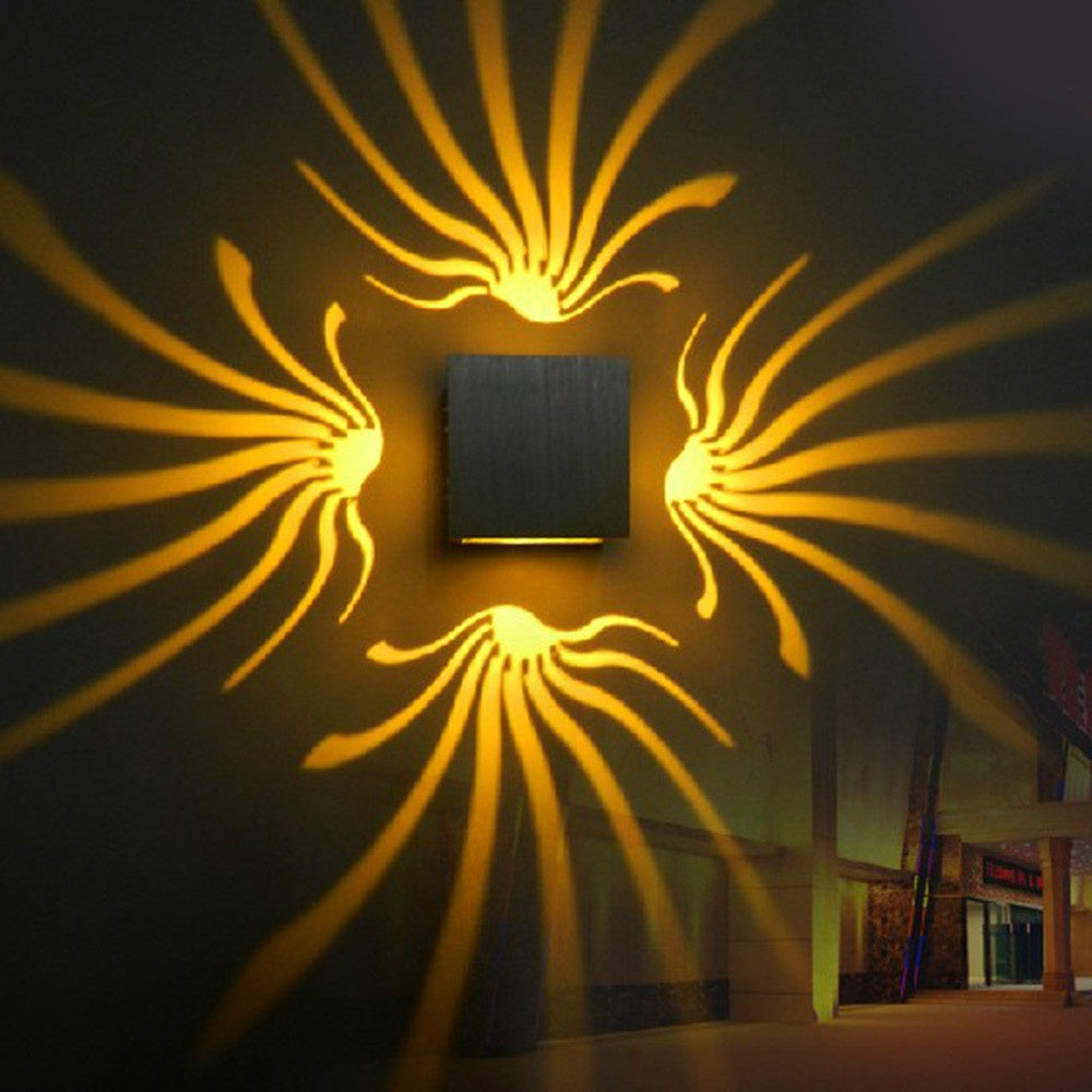 3W Ac85-265V Modern Led Wall Light Aluminum Lamp Bedroom Corridor Porch Ktv Bar Home Decor | Edlpe