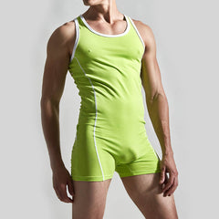 Men Casual Romper One Piece Shorts Jumpsuit Playsuits Fashion Sleeveless Tops Pants