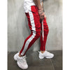 Image of Men Fashion Cotton Striped Pants Summer Casual Loose Trousers Zipper Sport Gym Running Pants | Edlpe