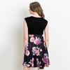 Image of Maternity Deep-V Sleeveless Breastfeeding Floral Skirt Stitching A-Line Dress | Edlpe