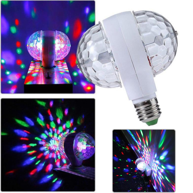 Led Stage Lighting Lamp Rgb Party Lights 6W Colorful 2-Head Bulbs Dj Light Show Auta Rotating Lamps | Edlpe
