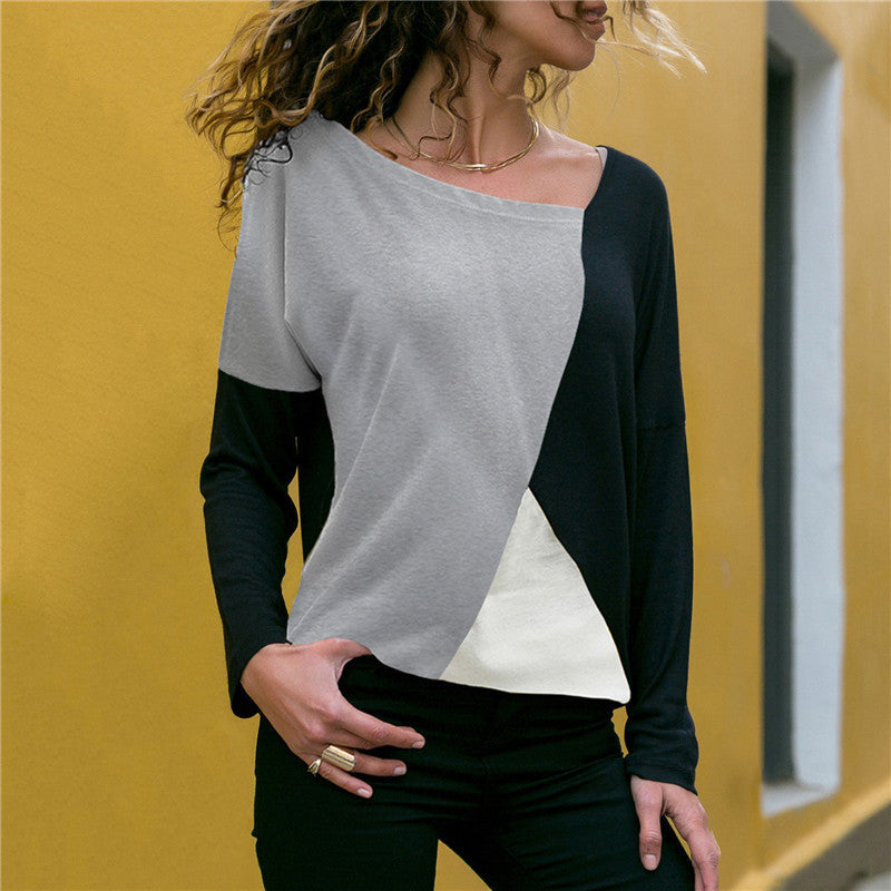 Women Long Sleeve Round Neck Shirt Blouse Casual Loose Shirt Tops Tee | Edlpe