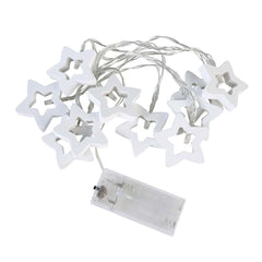 10LED Fairy Light Wooden Metal Stars LED String Lights Christmas Home Indoor Decoration light