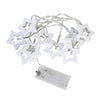 Image of 10Led Fairy Light Wooden Metal Stars Led String Lights Christmas Home Indoor Decoration Light | Edlpe