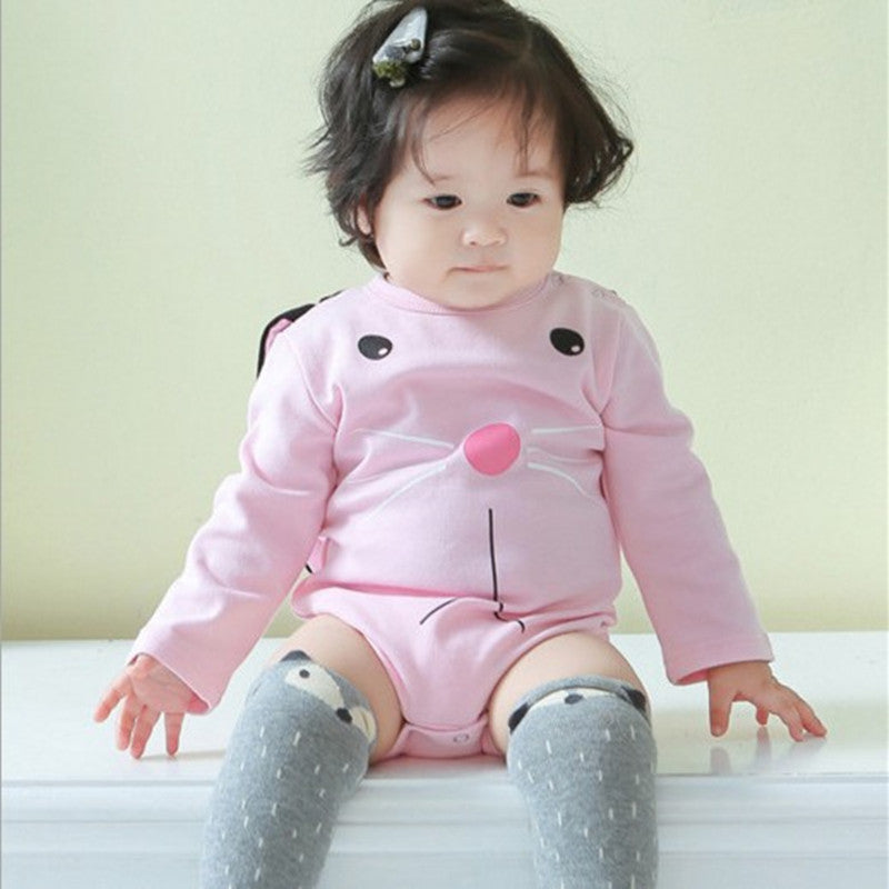 Newborn Kids Baby Girl Pink 3D Bunny Rabbit Ear Long Sleeve Bodysuit Romper Jumpsuit Outfit Clothes | Edlpe