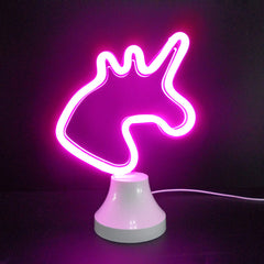 LED Neon Sign Desk Lamp Wall Lamp double use Night Light Room Shop Wedding Christmas Decor