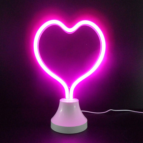 Led Neon Sign Desk Lamp Wall Lamp Double Use Night Light Room Shop Wedding Christmas Decor | Edlpe