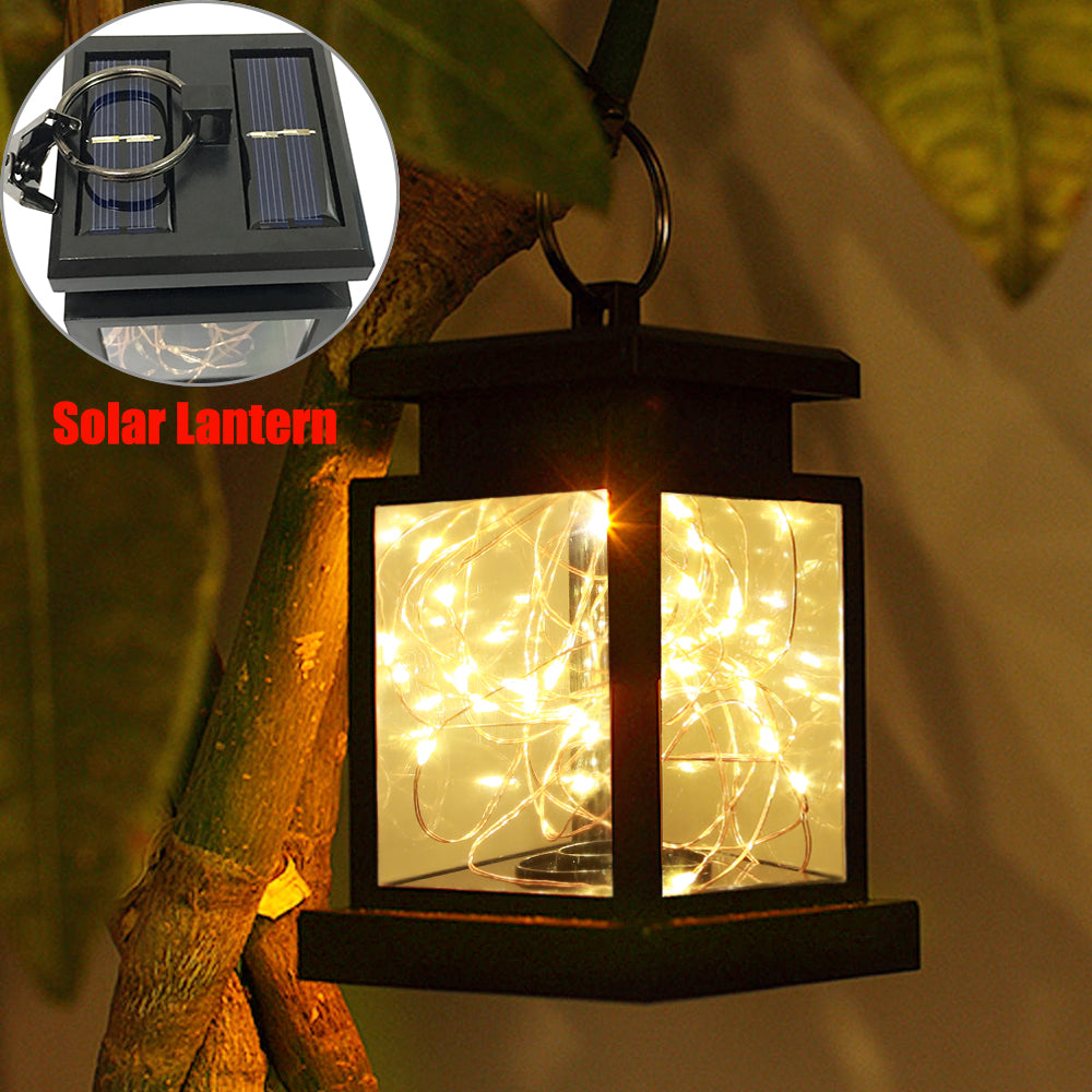 30Leds Solar Powered Led Outdoor Lantern Hang Lamp Garden Home Decoration Light | Edlpe