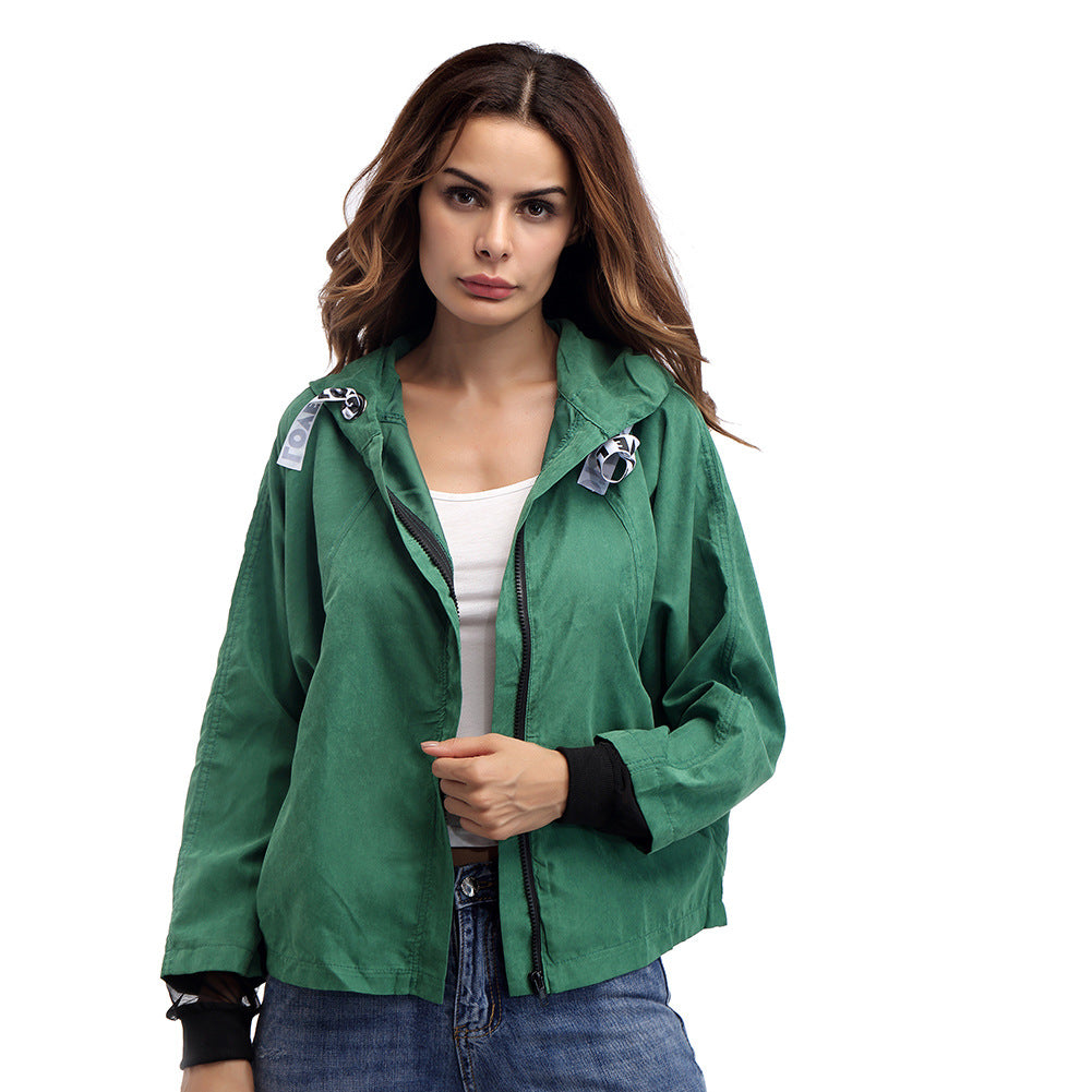 Autumn Winter Women Zipper Hooded Long Sleeve Coat Jacket Casual Sweatshirt Top Outwear | Edlpe