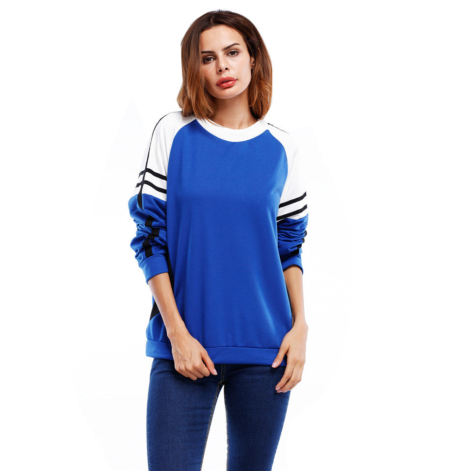 Autumn Women Casual Long Sleeve T-Shirt Sweatshirt Ladies Striped Blouse Tee Top | Edlpe