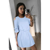Image of Women Ladies Casual Beach Party Mini Dress Cold Off-Shoulder Clubwear | Edlpe