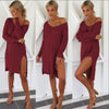 Image of Womens Knitted Sweater Jumper Mini Dress Ladies Knitwear Winter Long Sleeve Tops | Edlpe