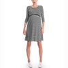 Image of Mother Breastfeeding Stripe 3 Quarters Sleeves Knee-Length Dress | Edlpe