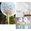 Image of 36 Konfetti Transparent Ballon Birthday Ballons Decoration Wedding | Edlpe