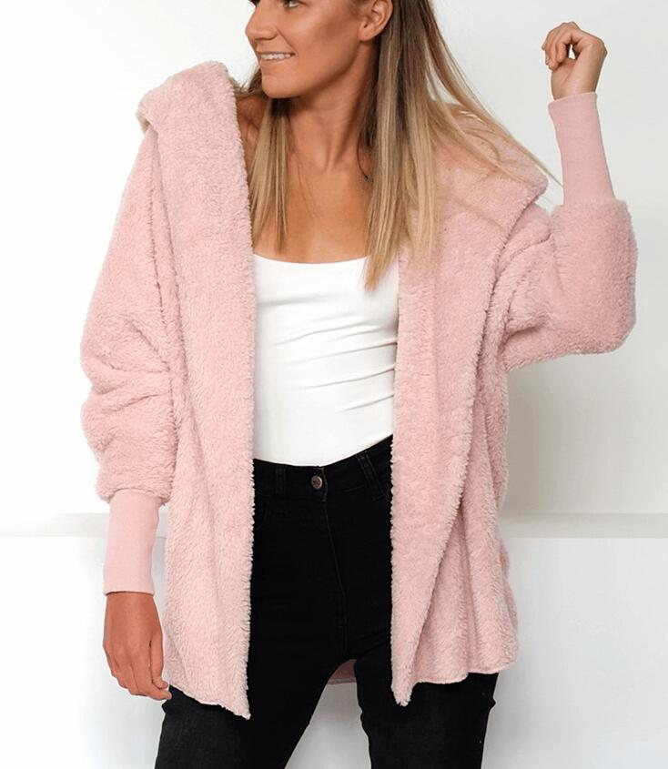 Fashion Women Top Sweater Coat Long Sleeve Fleece Jackets | Edlpe