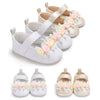 Image of Baby Toddler Girls Kids Floral Sandals Leather Anti-Slip Flat Shoes Casual | Edlpe