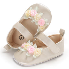 Baby Toddler Girls Kids Floral Sandals Leather Anti-Slip Flat Shoes Casual