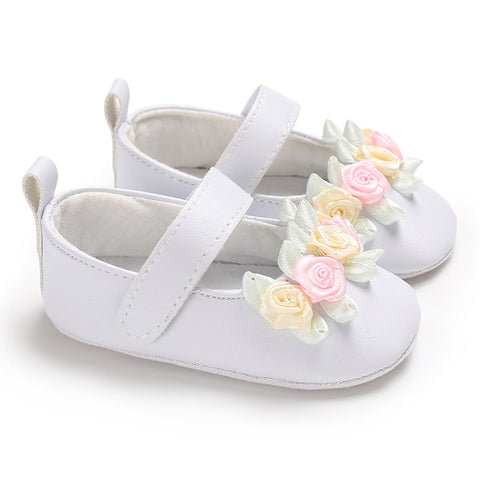 Baby Toddler Girls Kids Floral Sandals Leather Anti-Slip Flat Shoes Casual | Edlpe