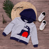 Image of Baby Boy Children Long Sleeve Dinosaur Style Hooded Hoodies Jumper 1-7 Years | Edlpe