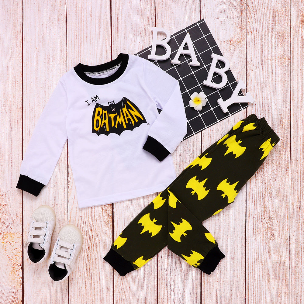Baby Boys Kids Superhero 2Pcs Clothes Set T-Shirt Tops Long Pants Outfit Suit | Edlpe