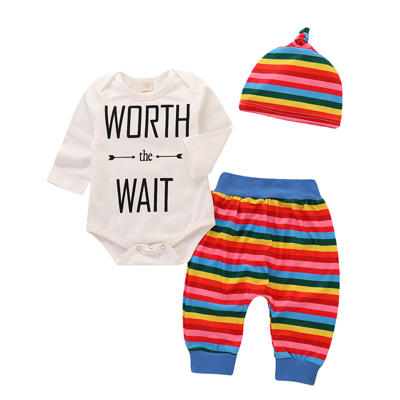 Baby Girls Boys Bodysuit Newborn Infant Tops Pants Hat Clothes Outfits Romper | Edlpe
