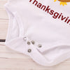Image of Kids Girls Turkey Thanks Giving Long Sleeve Romper Skirt Infant Baby Outfits | Edlpe