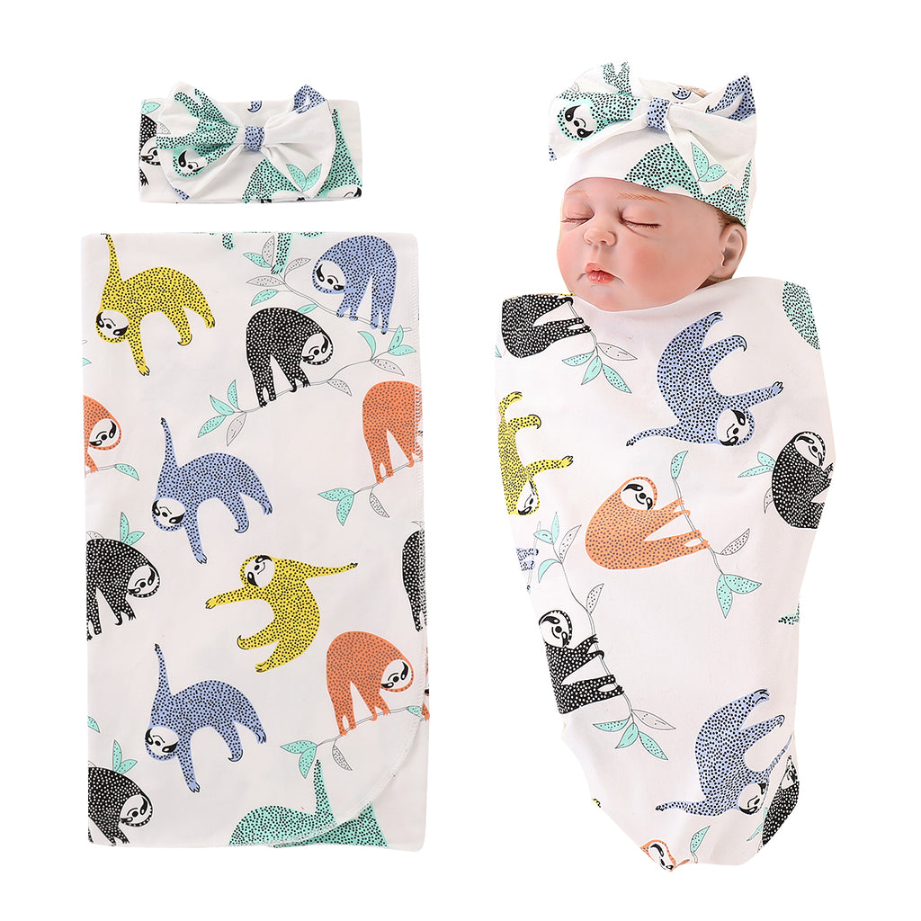 Newborn Boys Little Bear Print Sleep Bag Infant Outfits Casual Cotton Clothes | Edlpe