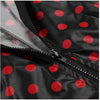 Image of Womens Rain Mac Waterproof Polka Dot Hoodie Jacket Raincoat Jacket Outdoor | Edlpe