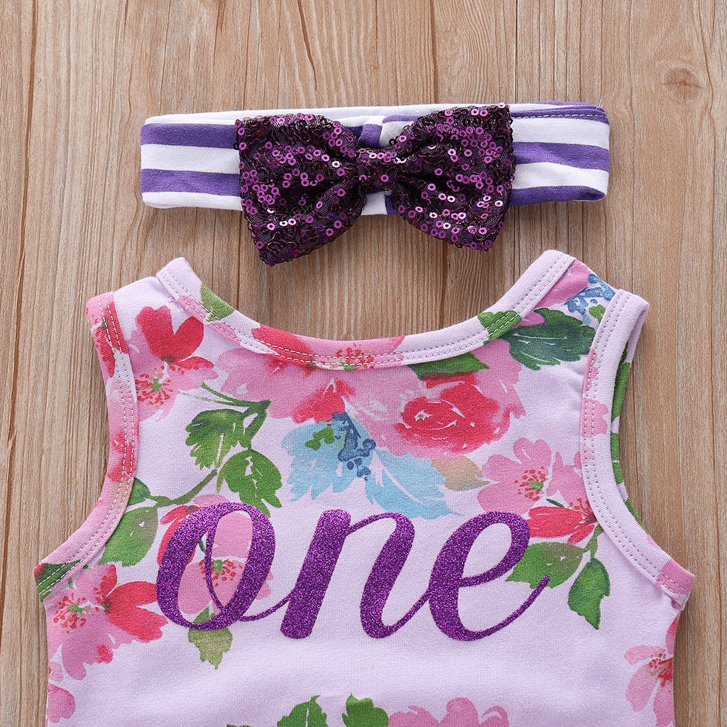 Infant Toddler Kids Baby Girls Floral Flower One Printing Lace Dress Skirt | Edlpe