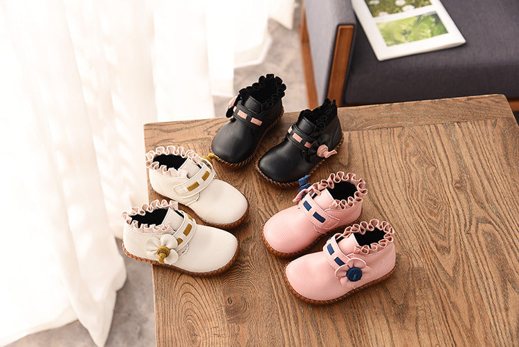 New Kids Girls Flat Ankle Boots Toddlers Faux Leather Party Princess Shoes Size | Edlpe