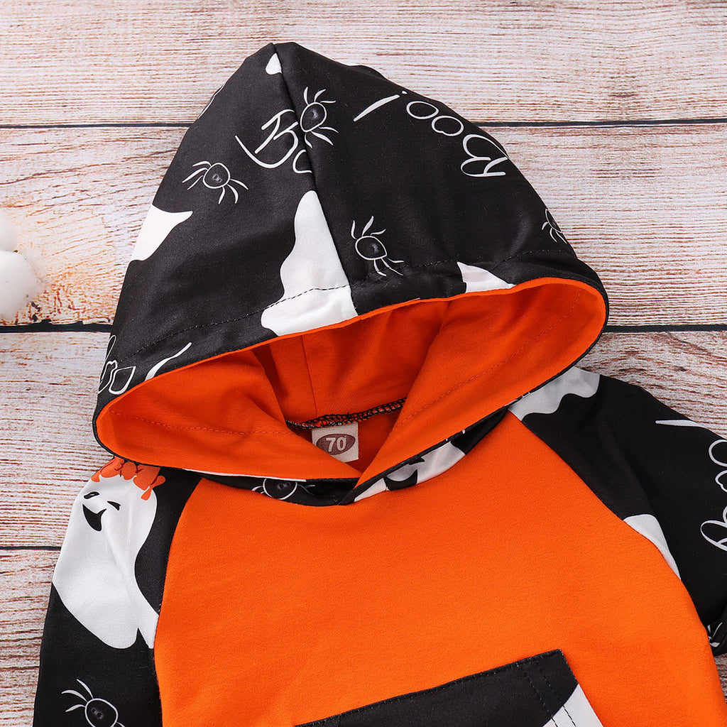 Infant Toddler Baby Kid Girl Halloween Ghost Hooded Top +Pants Outfit Clothes | Edlpe