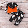 Image of Infant Toddler Baby Kid Girl Halloween Ghost Hooded Top +Pants Outfit Clothes | Edlpe
