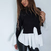 Image of Fashion Women Long Sleeve Frill Ruffle Tops Casual Loose Ladies Blouse Shirt