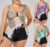 Image of Women Plus Size Floral Padded Bikini 2PCS/Set Swimsuit Summer Bathing Suit Tankini Set