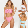 Image of Womens 3D Floral Brizilian Beadeau 2PCS Swimsuit Bikini Set Bathing Suit Beachwear