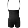 Image of Plus Size Women Underbust Corset Trainer Buckled Zipper Cincher Waist Tummy Control Full Body Shaper