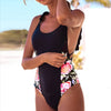 Image of Women Floral Padded Bandage One Piece Swimsuit Monokini Bathing Beach Swimwear