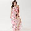 Image of Plus Size Women's Swimwear Bikini Cover Up Beach Maxi Wrap Sarong Long Dress