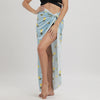 Image of Womens Beach Sarong Skirt Dress Wrap Scarf Pareo Bikini Cover Up Floral Sling Dress