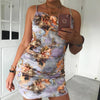 Image of Ladies Holiday Party Vintage Renaissance Oil Paintings Sling Bodycon Mini Dress Clubwear