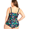 Image of Plus Size Women One Piece Cute Flowers Print Swimsuit Bathing Suit Beachwear
