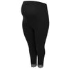 Image of Plus Size Maternity Women Leggings Lace Patchwork High Waist Stretch Long Pants