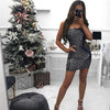 Image of Sexy Womens Ladies Sequin Shiny Cocktail Evening Clubwear Party Bodycon Mini Dress