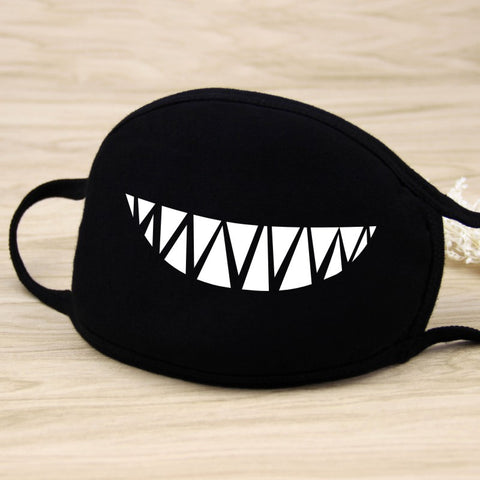 Non-disposable Pattern Print Black color Cotton cold Washable mask Fashion protective face mask